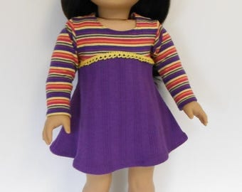 Dress fits 18 inch American Girl Dolls; Dress for American Girl doll; 18 inch doll dress