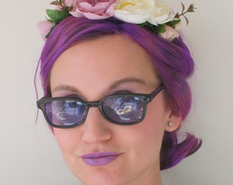 Vintage TOO COOL For SCHOOL Sunglasses..new old stock. classic. groovy. twiggy. mod. retro. lennon. librarian. ozzy. chic. nerd. geek.