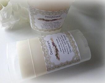 Natural Deodorant, Creamy Deodorant, 2 oz, Lavender Vanilla