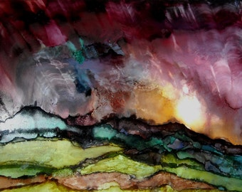 Alcohol Ink Print