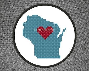 Wisconsin Cross Stitch Pattern