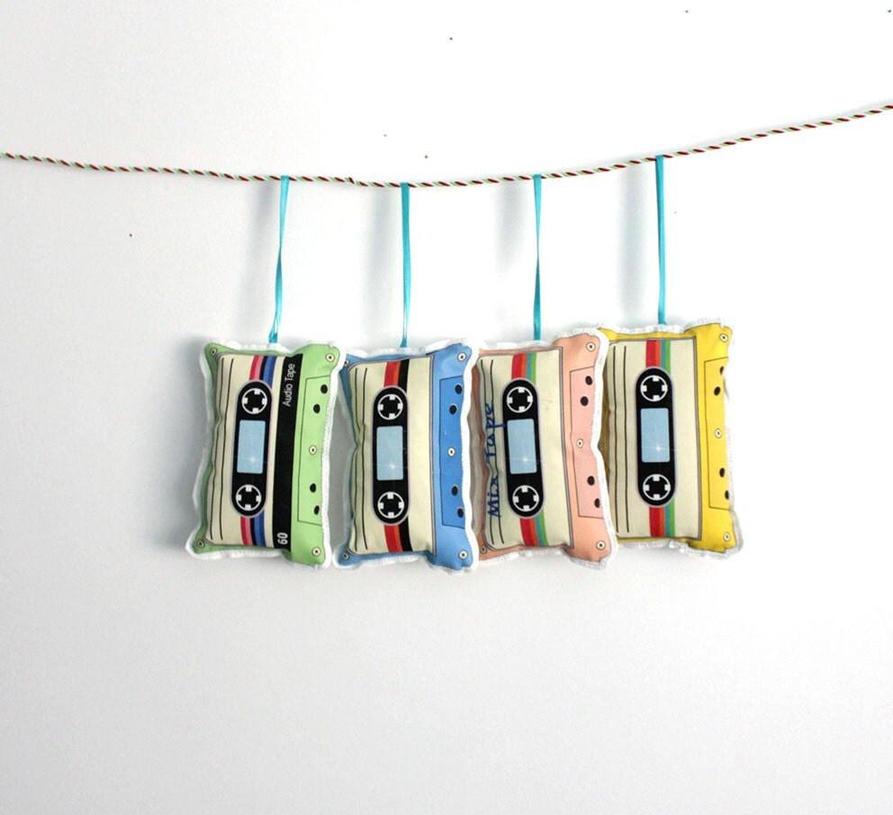 Cassette Tape Christmas Ornament Stocking Stuffer Host Gifts Under 10 Home Decor