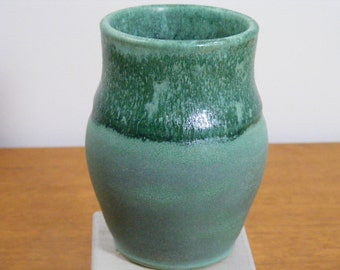 Handmade Pottery Vase, Small Ceramic Vase, Ceramic Bud Vase, Small Bud Vase, Green Vase, Varied Green Vase, 072D