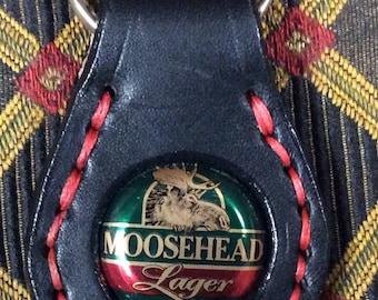 Moosehead Lager bottle cap key ring