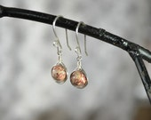 Leopardskin Jasper Earrings, Jasper Earrings, Speckled Stone, Natural Stone Jewelry