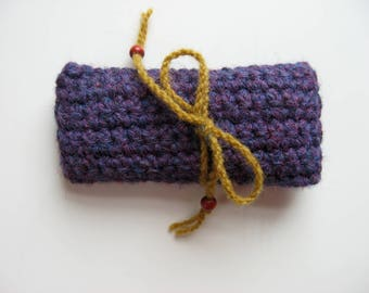 small purple contact lens case cover cozy pouch gift bag