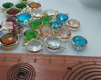 30 pcs fabulous Birthstone Crystal Charm -T1161-mixed colours