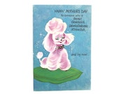 Terrific Glittery Poodle Mother's Day Card w/ Envelope, Unused Vintage Mother's Day Card, Mid Century Poodle Mother's Day Card, Sparkly Card