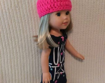 14.5 inch Doll (modeled by a Wellie Wisher doll) super star dress and coordinating hat