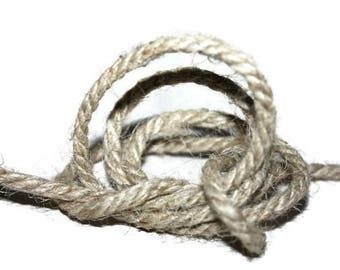 4 mm Jute Rope Natural = 1 Reel = 65 Yards = 60 Meters - Jute Rope, Jute Cord, Natural Fiber Rope, Jute Cord Rope, Burlap String Cording