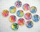 Paint Color Round Glass Magnet, Fridge Magnet, Round