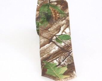 Camo tie. Realtree camouflage neck tie Realtree Xtra green camo necktie cotton or microfibre custom made to order