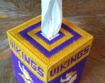 Vikings Plastic Canvas Tissue Box Cover