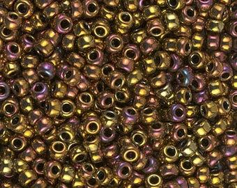 Miyuki Seedbeads - Size 8/0 - Metallic Gold Iris - 8M462
