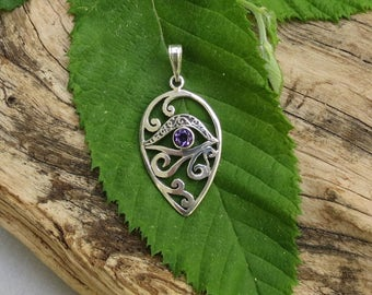 Sterling Silver - Amethyst Pendant - 18x30mm - Sold Per Piece