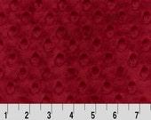1 Yd Minky Dot Crimson (Shannon Fabrics)