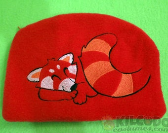 Snoozing Red Panda Zipper Pouch - 3ds XL Case - Embroidered - Wallet - Nintendo DS