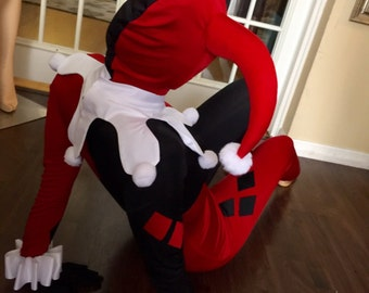 Harley Quinn Costume jumpsuit Custom Made