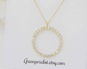 Eternity Necklace, Best Friend Gift, Bridesmaid Jewelry, Bridesmaid Gift, Mother of the Bride Necklace, Mothers Day Gift, Wedding Jewerly