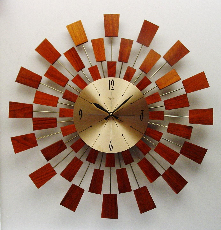 starburst wall clock mid century modern after george nelson