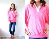 50% OFF SWEATER SALE Vintage Boho pink aztec triable print sweatshirt // navajo // pattern sweatshirt // slouchy sweatshirt // boho sweater