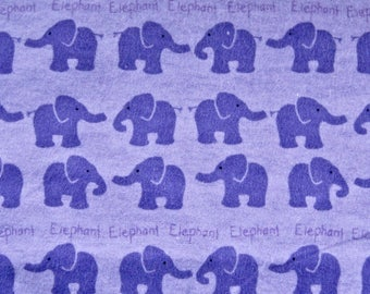 Purple Elephants Flannel Travel Surgical Comfort Toddler Day Care Pillow