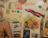 vintage Spring Garden junk journaling kit | vintage junk journal embellishments | DIY junk journal vintage springtime vintage junk journals