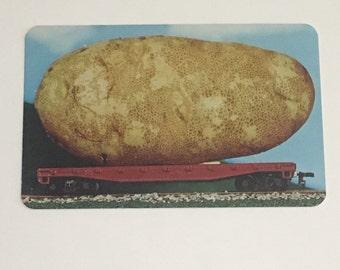 Awesome Unused 1950s Idaho Potato Postcard Souvenir