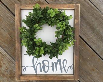 Mini Shiplap wreath sign, home sign, farmhouse wreath, fixer upper decor, farmhouse sign, shiplap sign, farmhouse wall decor