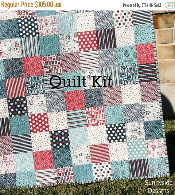 Boat House Quilt Kit Sweetwater Moda Fabrics By