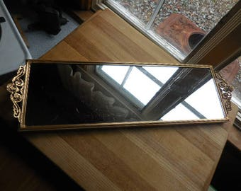 Narrow vanity etsy for Long narrow mirrors for sale