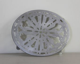 French Vintage Pot Stand Trivet in Aluminium
