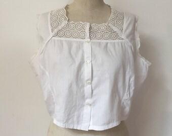 Vintage 1900s White Camisole Corset Cover XL