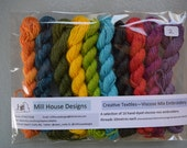 Hand-dyed Embroidery Thread Viscose mix