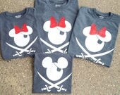Pirate Disney Shirt for the Family! Mickey or Minnie!!