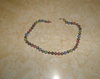 vintage necklace colorful glass