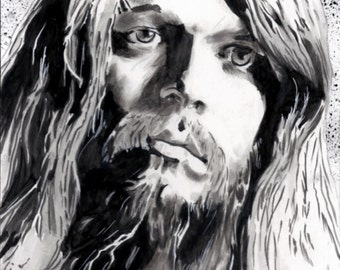 8 x 10 glossy print Portrait Late rock star Leon Russell Artist Signed