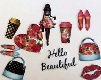 Hello Beautiful!Erin Condren, Kate Spade, Happy Planner, Personal Planner these accessary stickers work with most planners African American