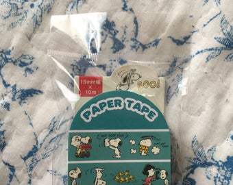 NEW Japanese masking tape Snoopy 15mm