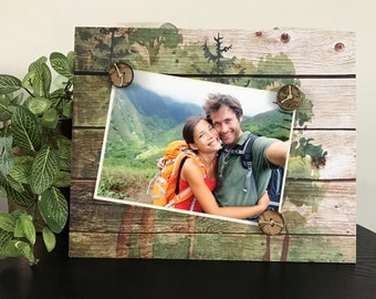 Picture Frame Magnetic Gift Home Decor Photo 5 x 7 Hiking Camp National Parks Nature Theme Camping Forest Gifts for Him Her -Into The Woods