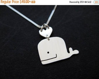 Whale Necklace - Sterling Silver Whale Jewelry - Marine Necklace - Humpback Whale Gifts