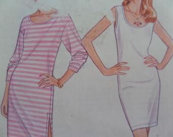 TANK DRESS Pattern • Simplicity 9017 • Miss XXS-L • T Shirt Dress • Knit Pullover Dress • Sewing Pattern • Modern Patterns • WhiletheCatNaps