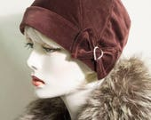 "1920s vintage inspired classic hat "" an order for Galyn """