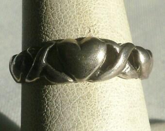 Vintage Sterling Silver Celtic Ring-Size 7 1/4