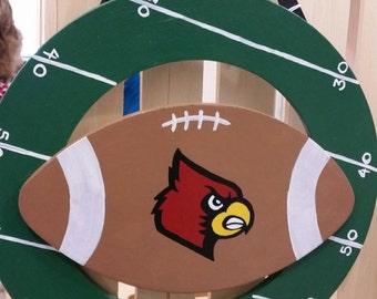 Customizable Sports Football Wreath -Choose Your Team