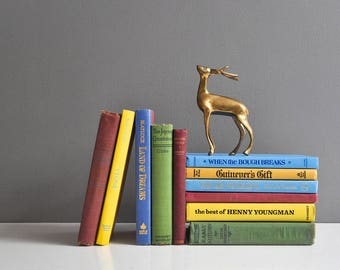 Vintage Book Collection - Purple, Yellow, and Green and Blue Book Set