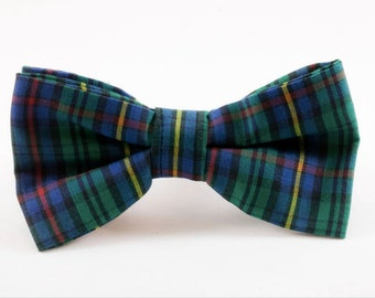 Tartan Plaid School Boy Dog Bow Tie, Fall, Scottish, Flannel, Christmas, Holiday