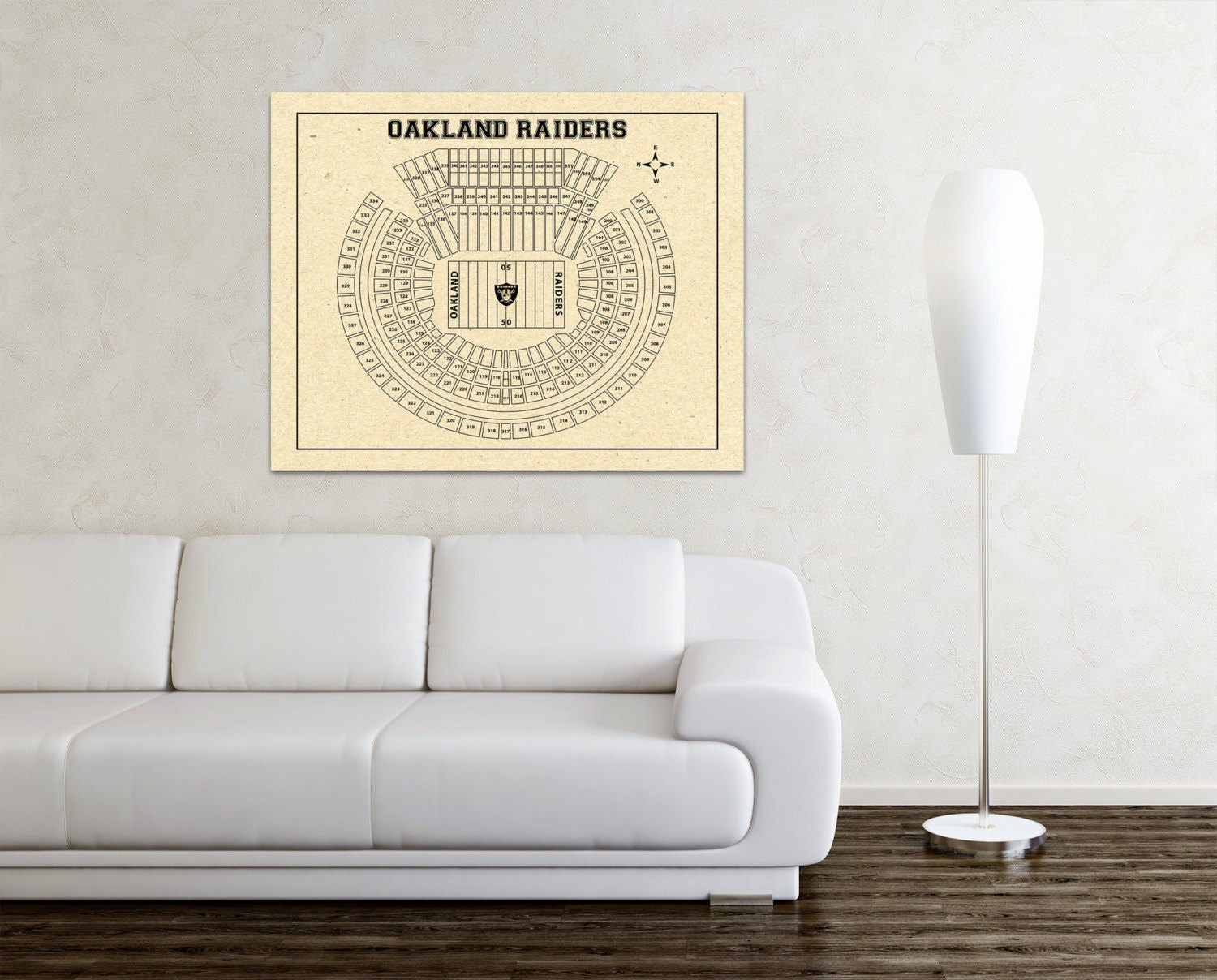 Vintage style print of oakland coliseum seating chart on for 12x15 calculator