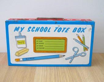 Vintage Ohio Art Tin School Box