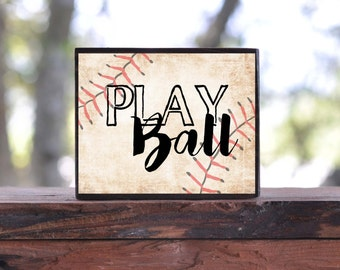 PLAY BALL BASEBALL...sign block